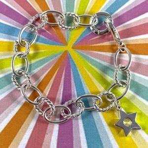 Christian Dior Beauty Charm Bracelet Silver-Tone